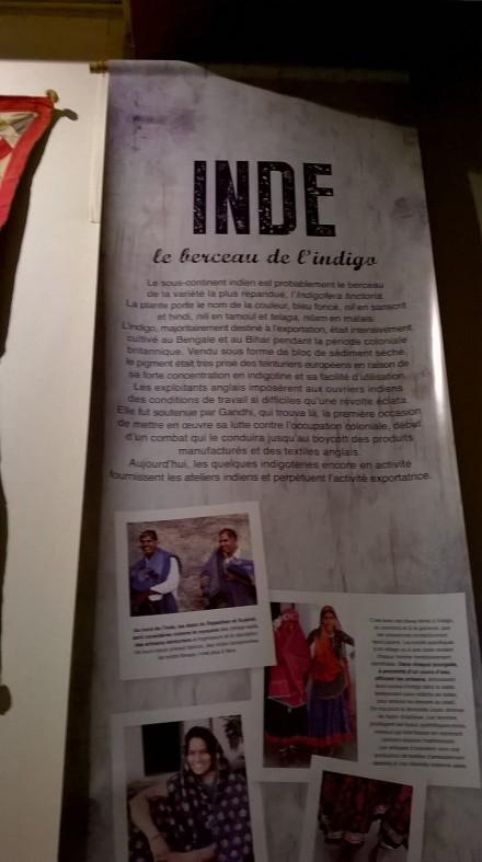 Exposition Indigo, un périple bleu
